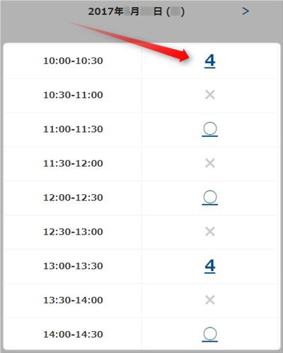 グロースターターキット購入時間指定画面